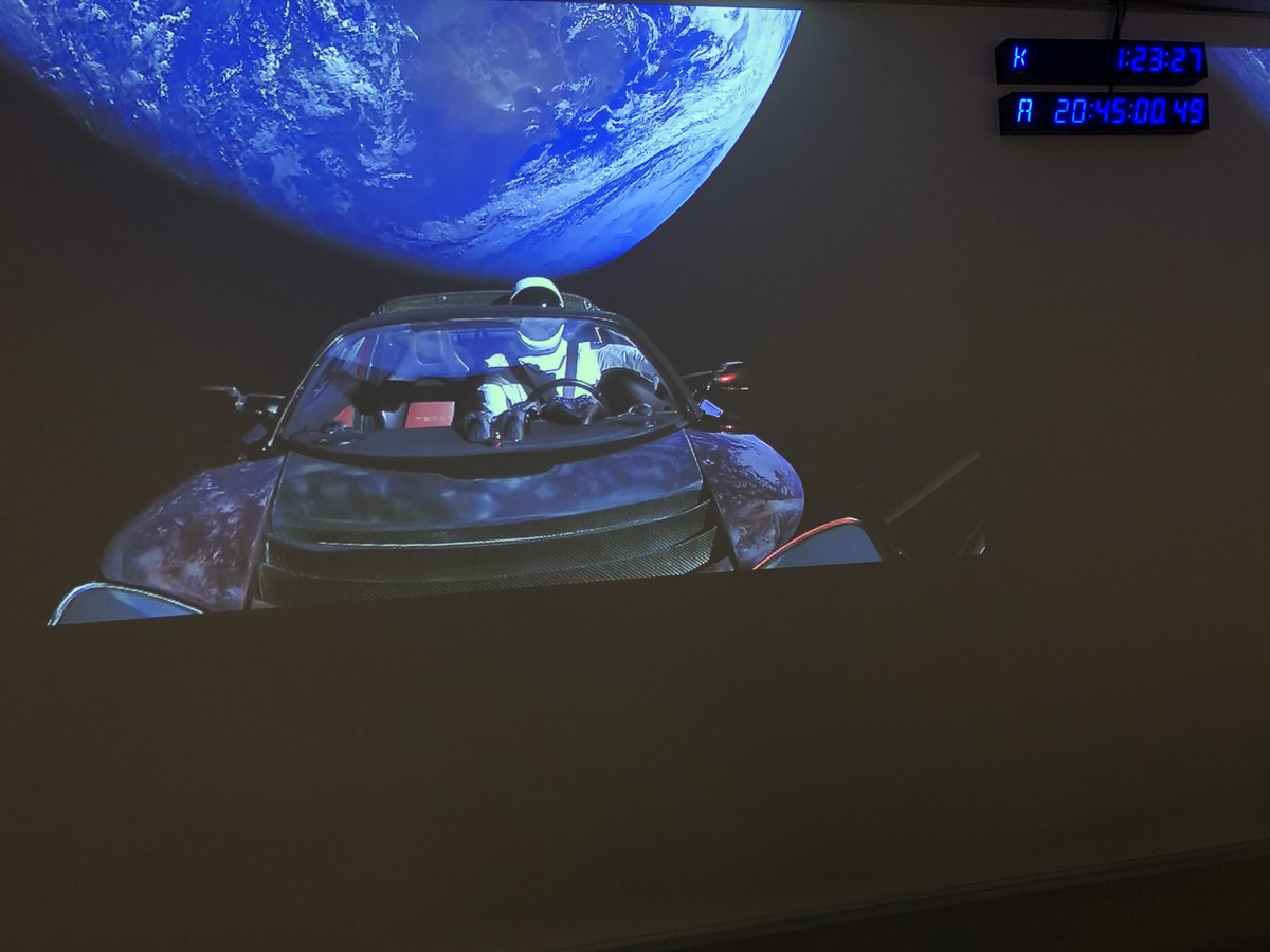 A Tesla now LiVs in Space