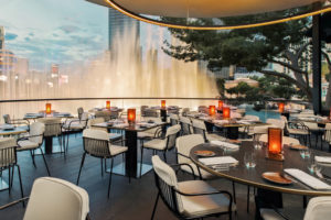 Wolfgang Puck Debuts Spago Overlooking Bellagio Fountains